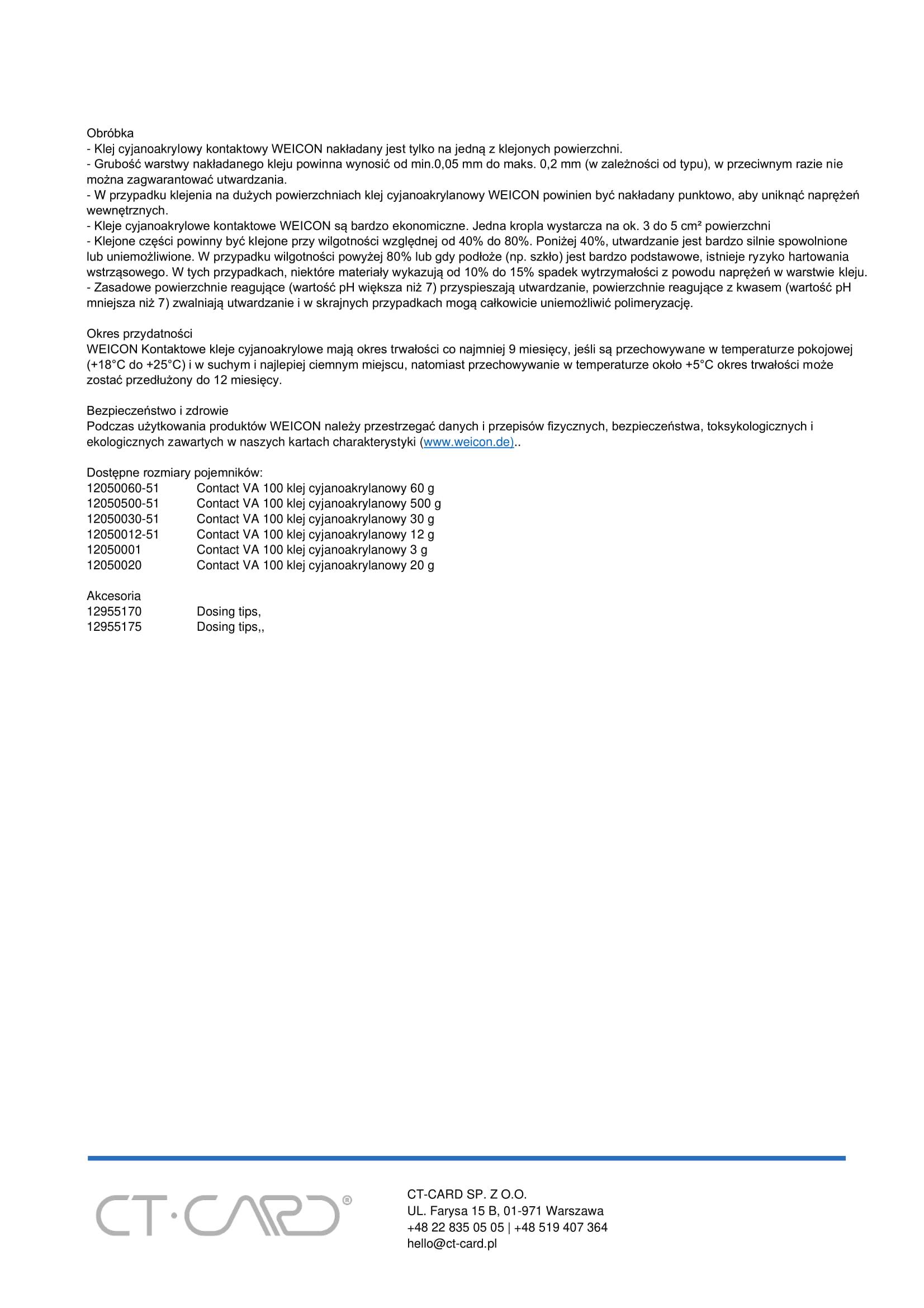 Contact VA 100 klej cyjanoakrylanowy-2