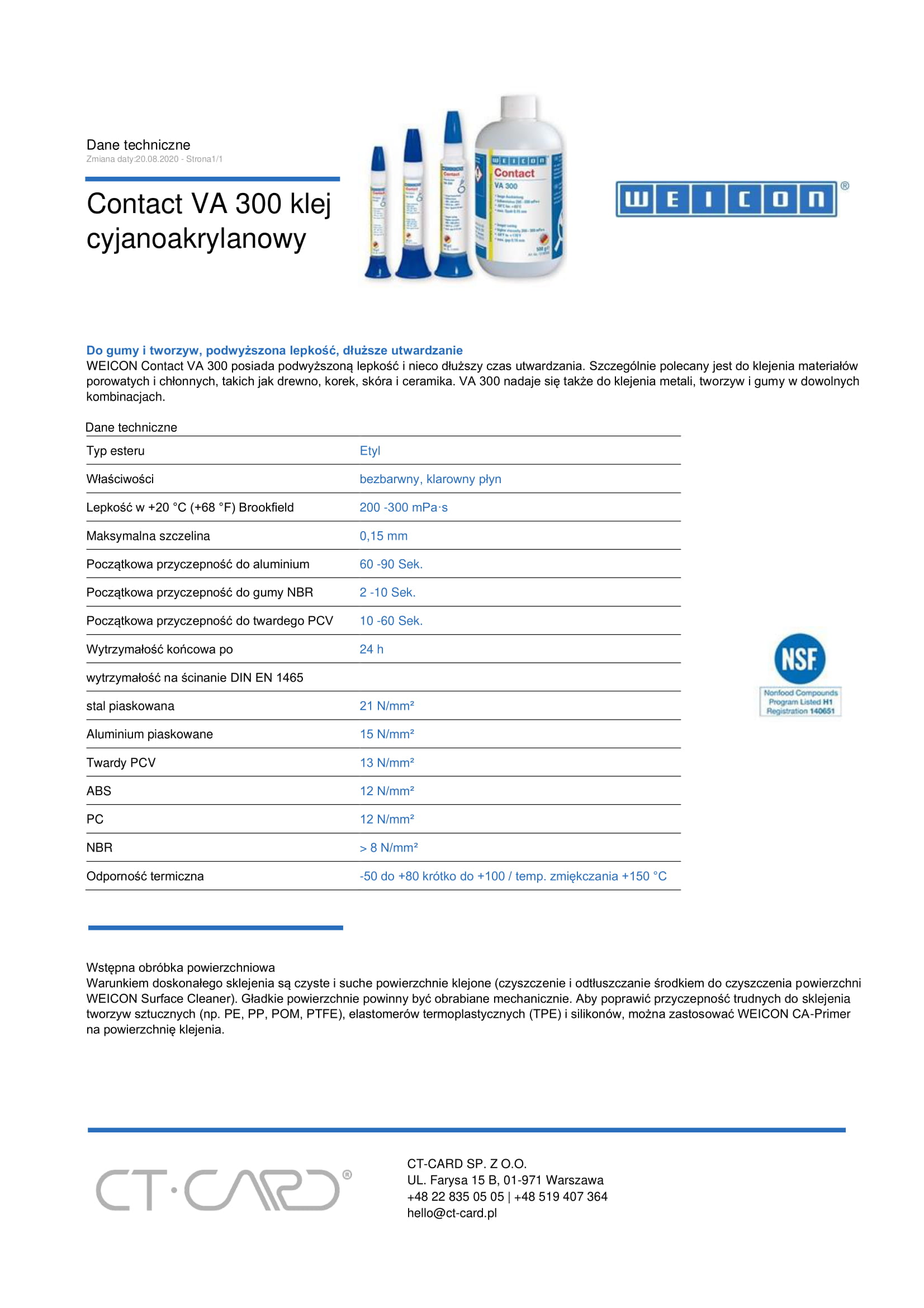 Contact VA 300 klej cyjanoakrylanowy-1