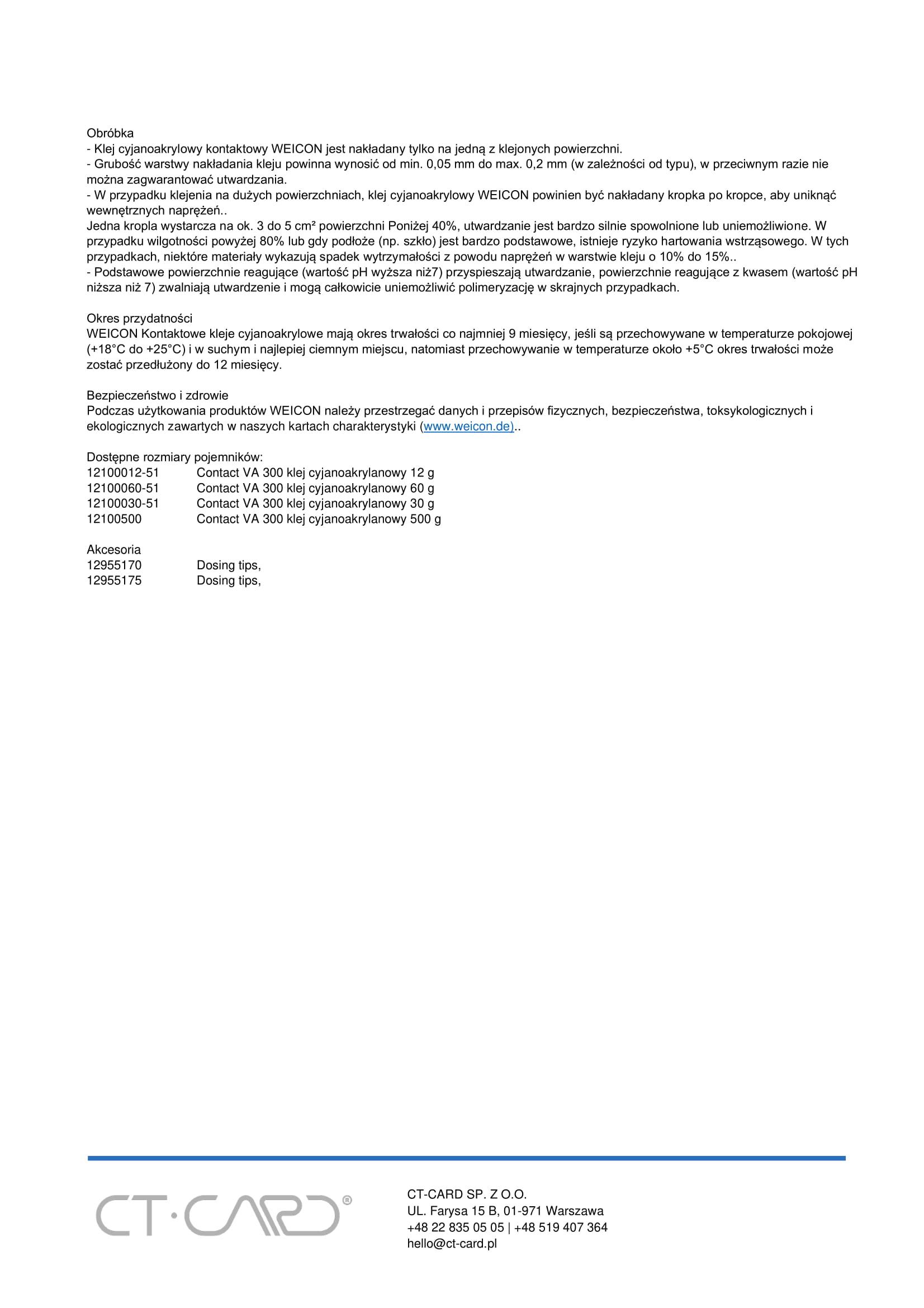 Contact VA 300 klej cyjanoakrylanowy-2